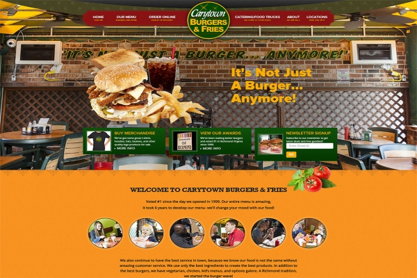 Website Design For Our Client Carytown burgers & Fries
