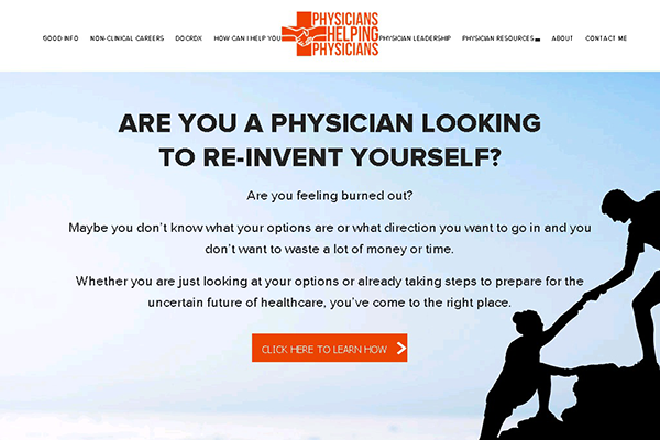 Website Design For Our Client Physicians Helping Physicians