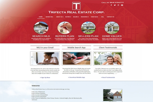 Website Design For Our Client Trifecta Real Estate Corp