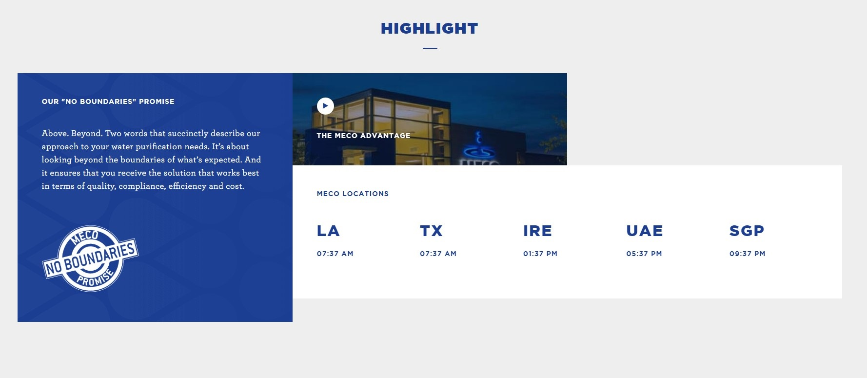 MECO use their website to highlight different office locations