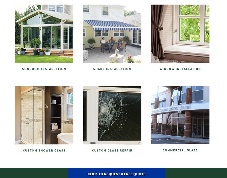 garrety glass offers a free quote on their landing page