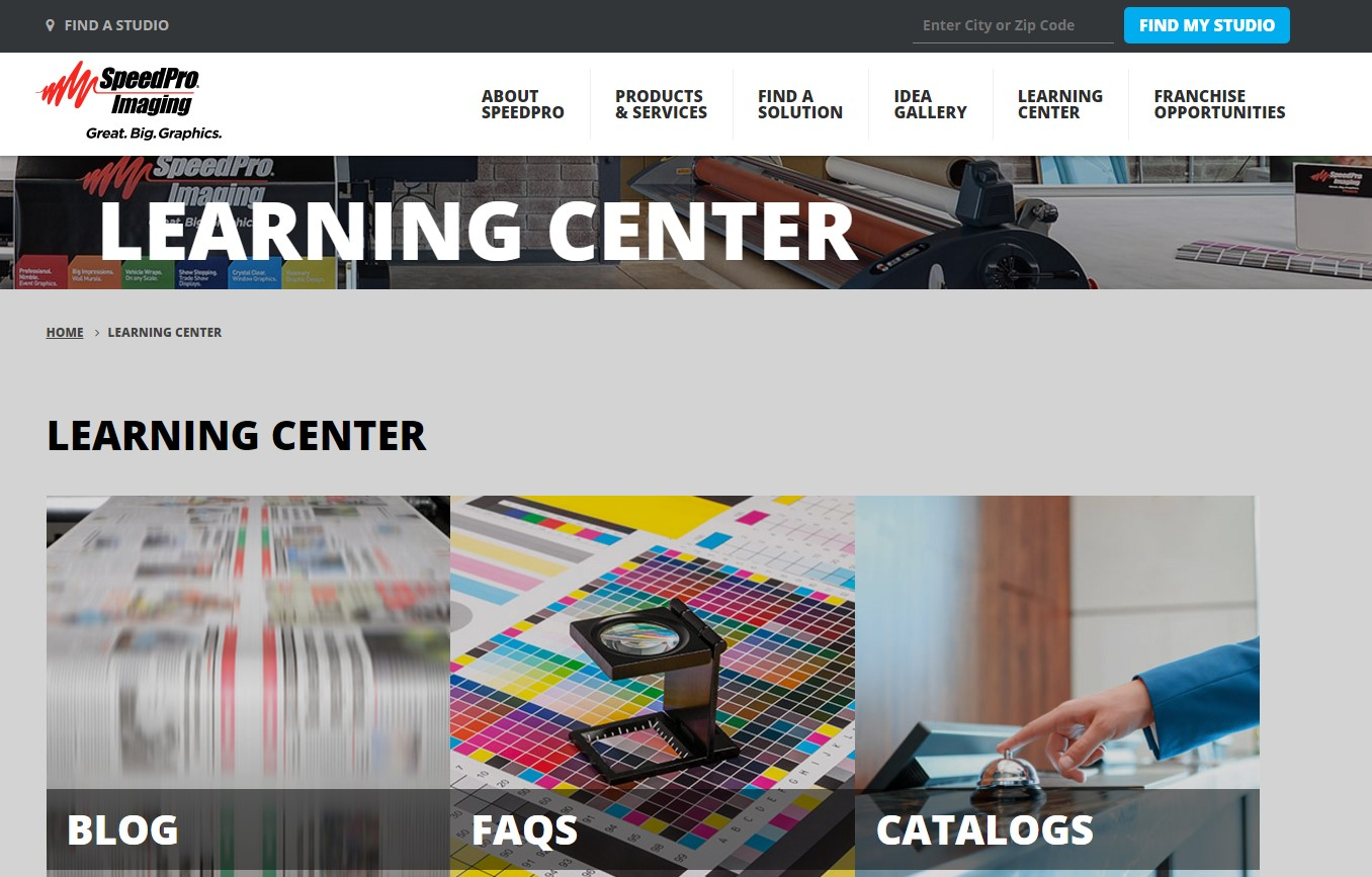 A learning center page gives visitors on your site all the information they need about your services in one place