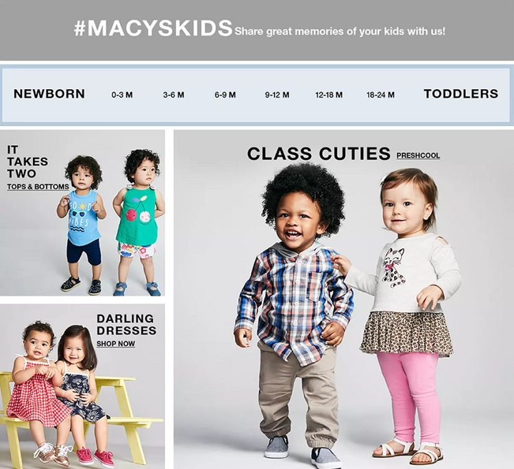 macys website offers expansive filtering options