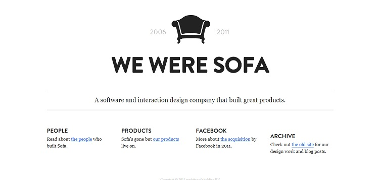 we are sofa is a good example of using whitespace