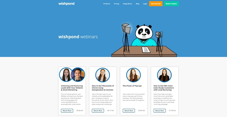 wishpond establishes their expertise in matters of marketing to promote their all-in-one platform solution