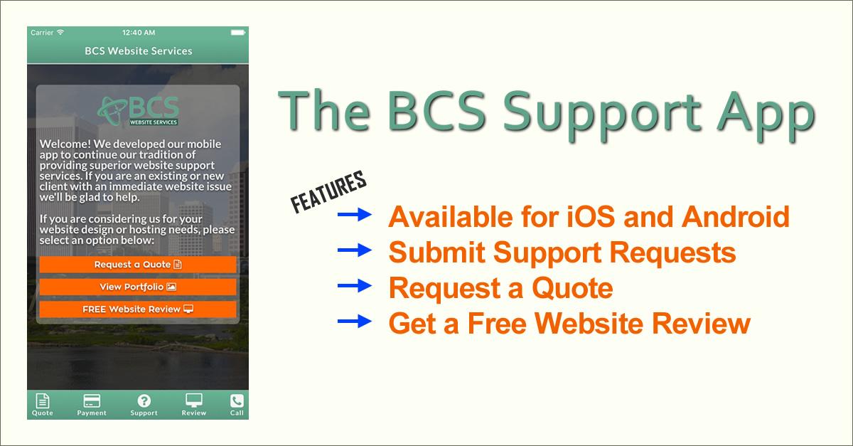 BCS Support App