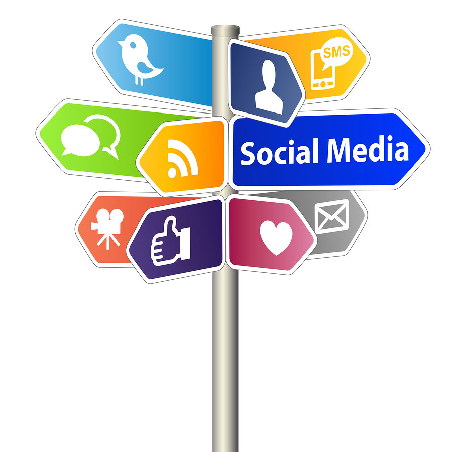 many social media sites to post on